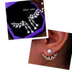 2x Angel Wing Rhinestone Earrings
